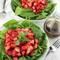 Strawberry Basil Salad with Balsamic Vinaigrette