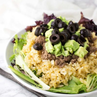 Taco Salad with Mexican Cauliflower Rice