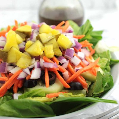 Veggie Delight Salad with Balsamic Vinaigrette