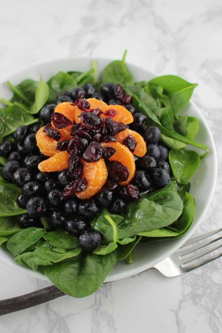 Blueberry Salad with Orange Vinaigrette