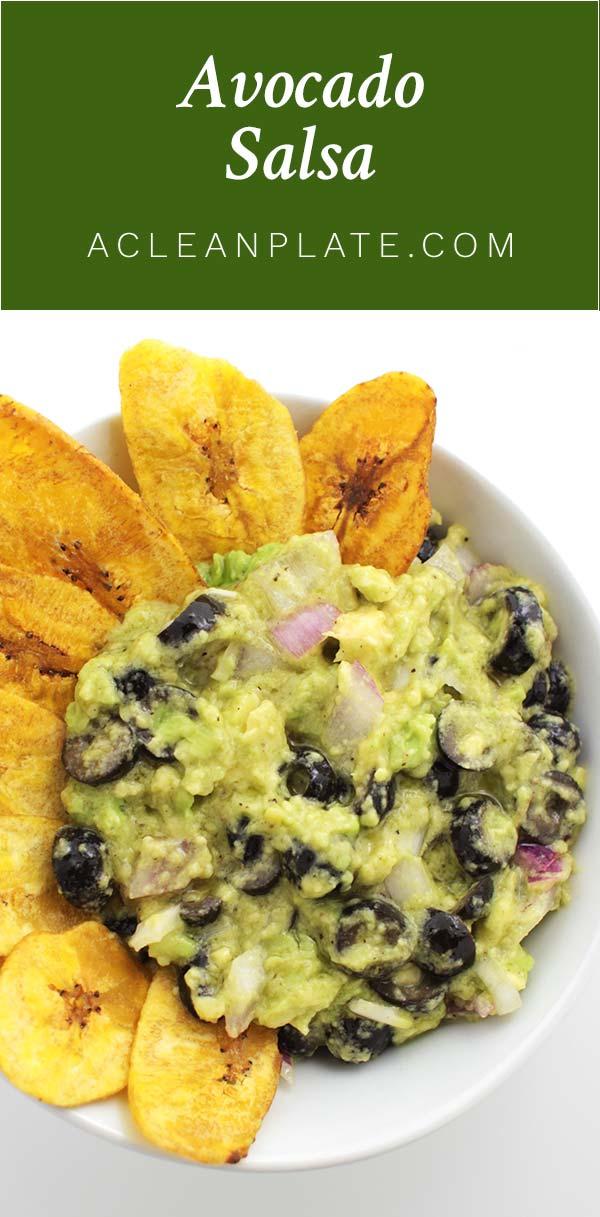Chunky Avocado Salsa recipe from acleanplate.com