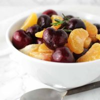 Clementine Fruit Salad with Cherries