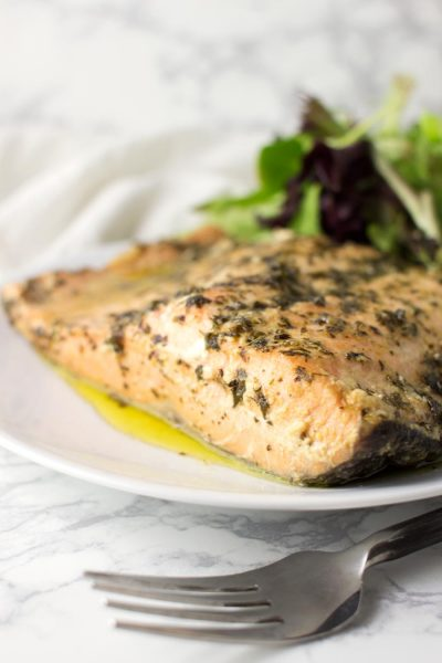 Savory Baked Salmon recipe from acleanplate.com #paleo #aip #glutenfree