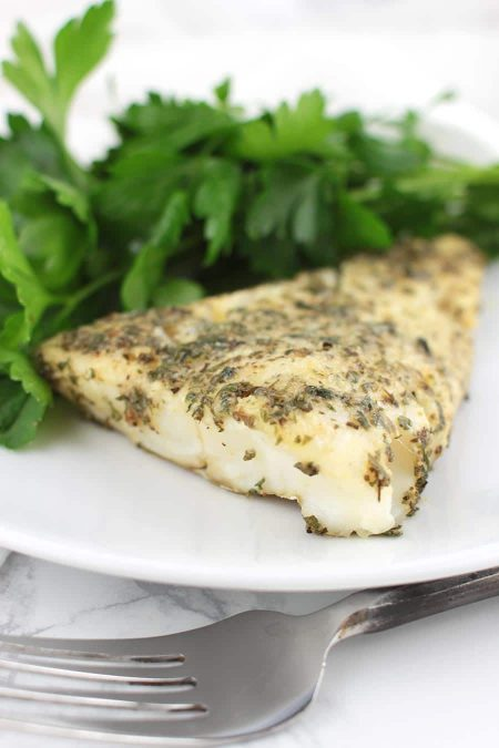 Roasted Garlic and Herb Cod