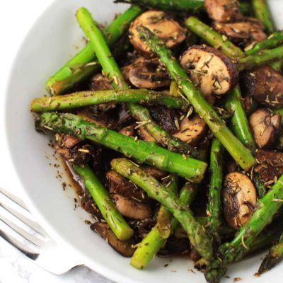 Sweet and Sour Asparagus Saute