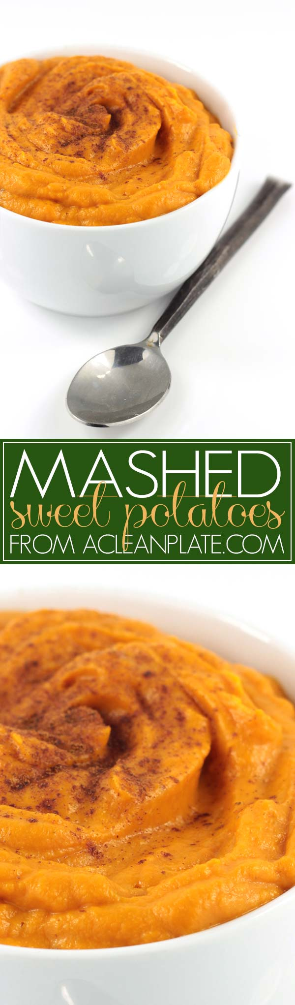 Mashed Sweet Potatoes recipe from acleanplate.com