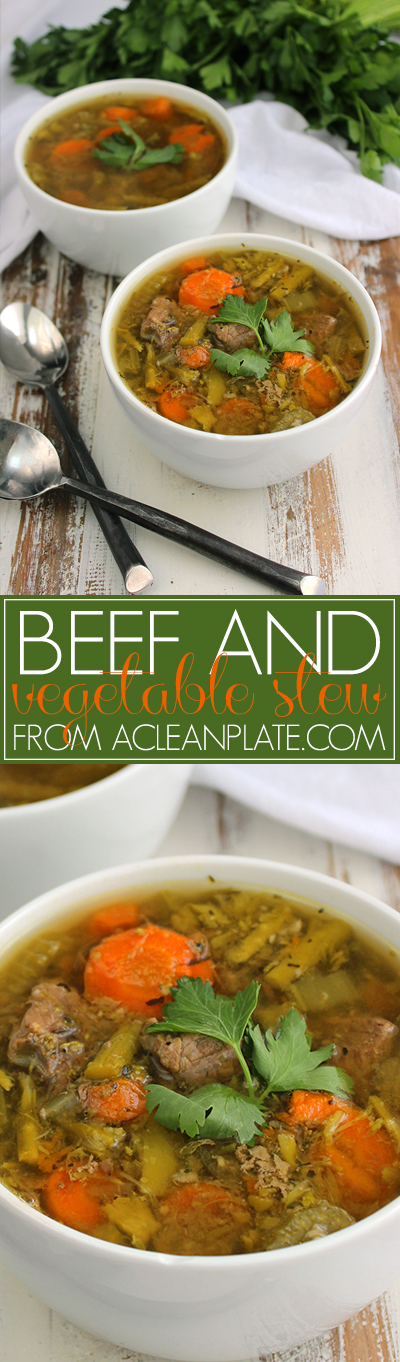 Beef and Vegetable Stew recipe from acleanplate.com