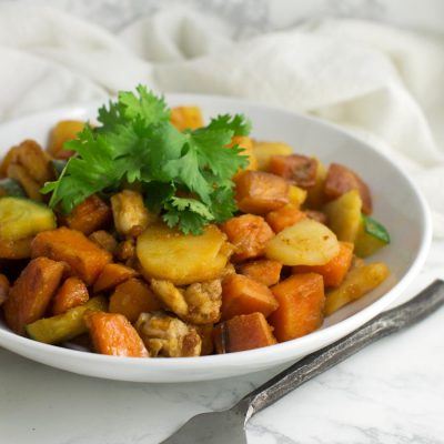 Asian Sweet Potato and Pineapple Stir-Fry