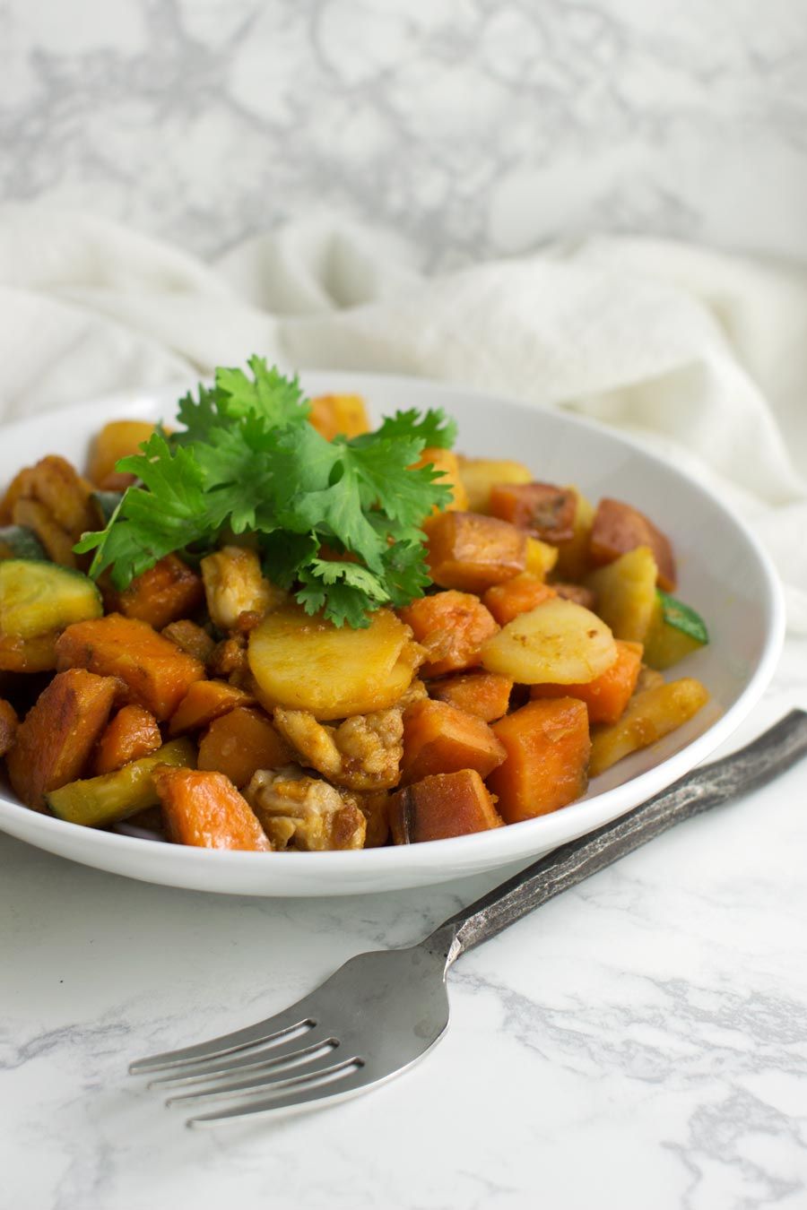 Asian Sweet Potato and Pineapple Stir-Fry recipe from acleanplate.com #paleo #aip #glutenfree