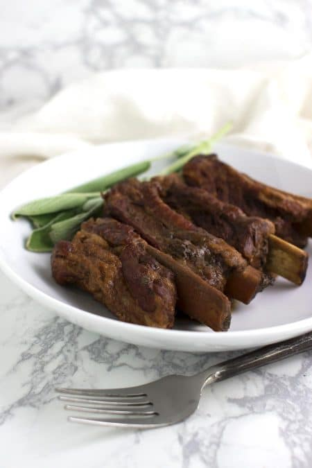 Cranberry-Braised Short Ribs recipe on acleanplate.com #aip #paleo #autoimmuneprotocol