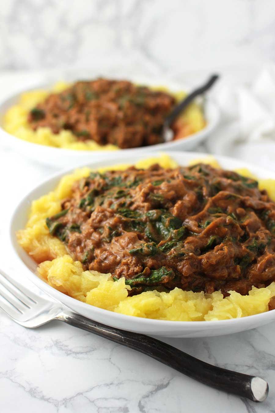 AIP Spaghetti with Nomato Sauce recipe from acleanplate.com #aip #paleo #autoimmuneprotocol