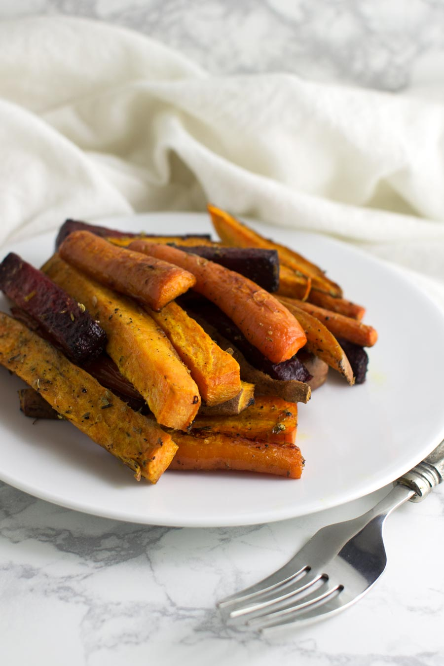Root Vegetable Fries recipe from acleanplate.com #paleo #aip #glutenfree