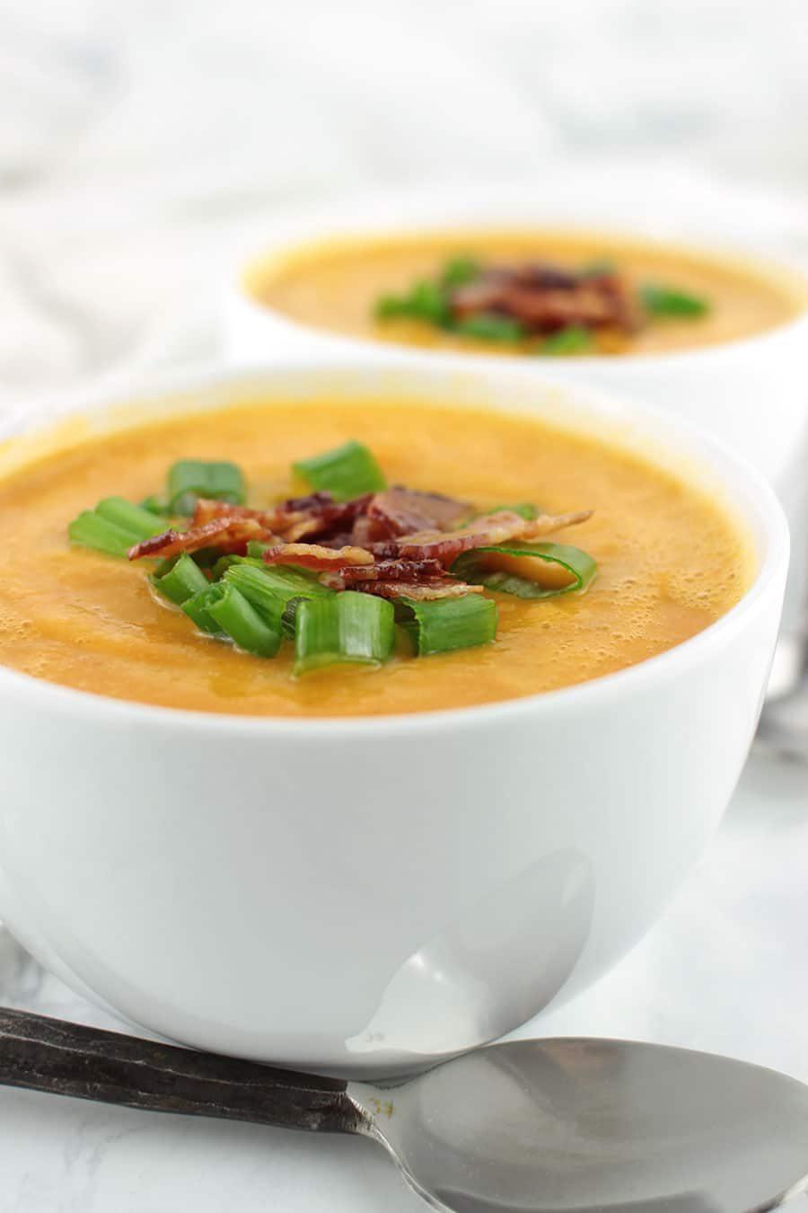 Sweet Potato Bacon Soup