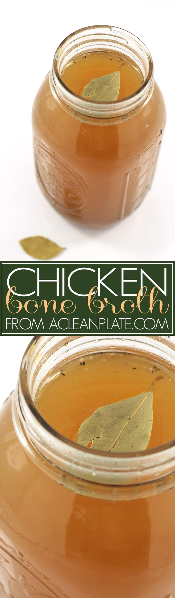 Chicken Bone Broth recipe from acleanplate.com