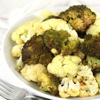 Garlic Roasted Broccoli and Cauliflower