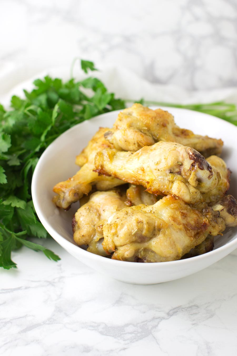 Mustard-Glazed Chicken Wings recipe from acleanplate.com #Paleo #aip #glutenfree