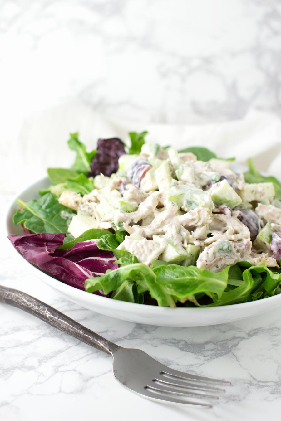 Chicken Waldorf Salad recipe from acleanplate.com #aip #paleo #glutenfree