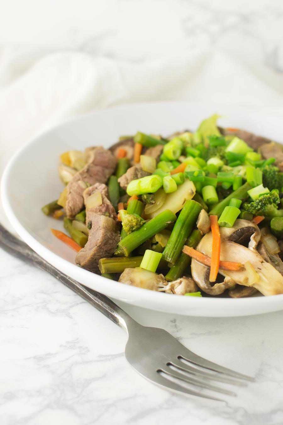 Five Veggie Stir-Fry recipe from acleanplate.com #paleo #aip #glutenfree
