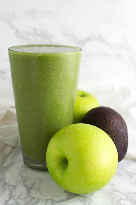 Green Salad Smoothie recipe from acleanplate.com #paleo #aip #autoimmuneprotocol