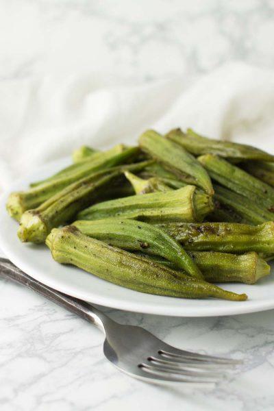 Roasted Okra recipe from acleanplate.com #paleo #aip #glutenfree