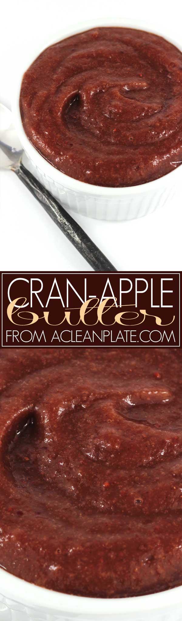 Cran-Apple Butter recipe from acleanplate.com