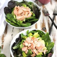 Salmon Salad with Ginger-Blueberry Dressing