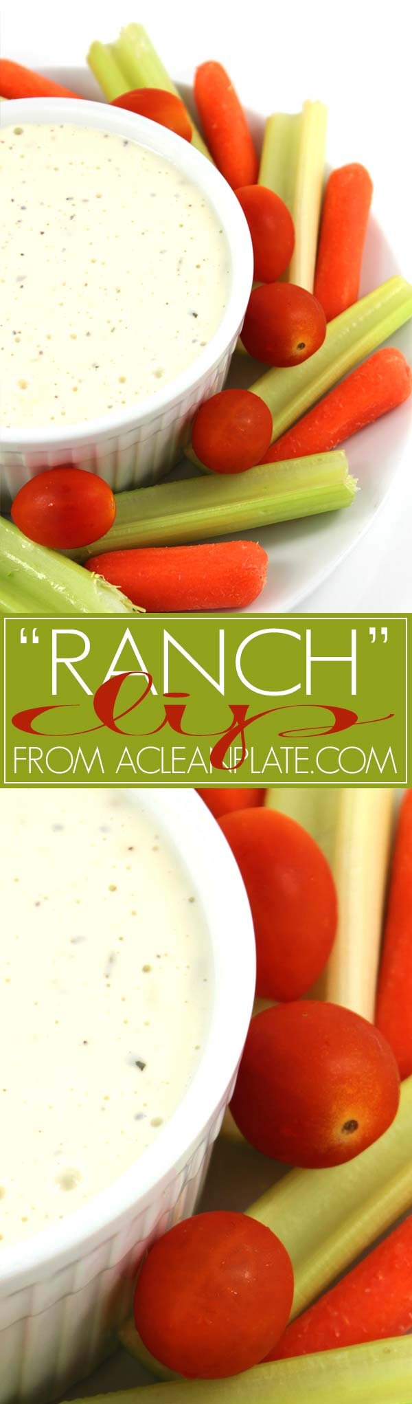Easy, dairy-free Ranch Dip recipe from acleanplate.com