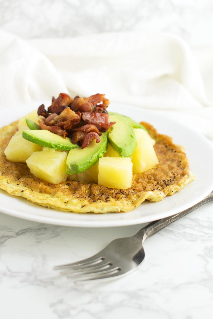 Pineapple Bacon Omelet recipe from acleanplate.com #paleo #aip #glutenfree