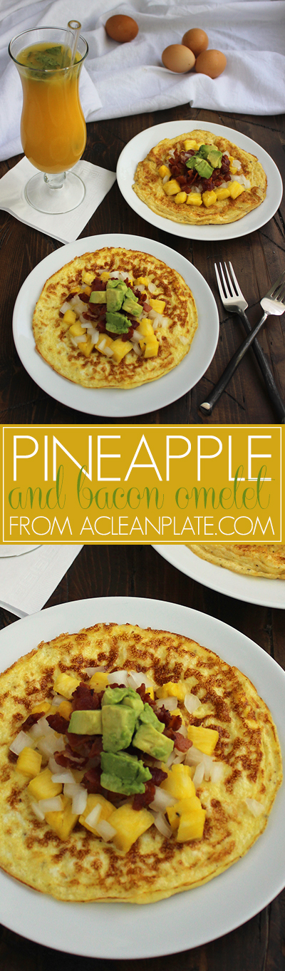 pineapple and bacon omelet a clean plate