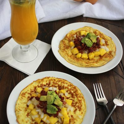 Pineapple and Bacon Omelet