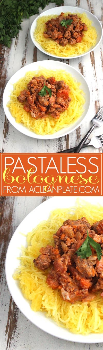 Bolognese recipe from acleanplate.com