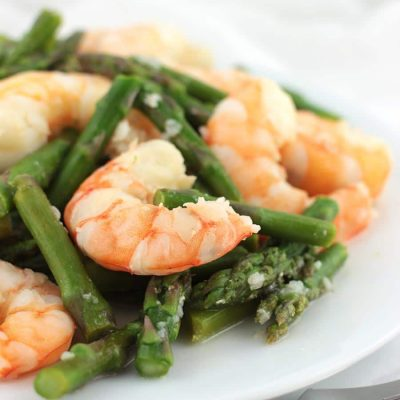 Garlic-Lemon Asparagus Shrimp Stir-Fry