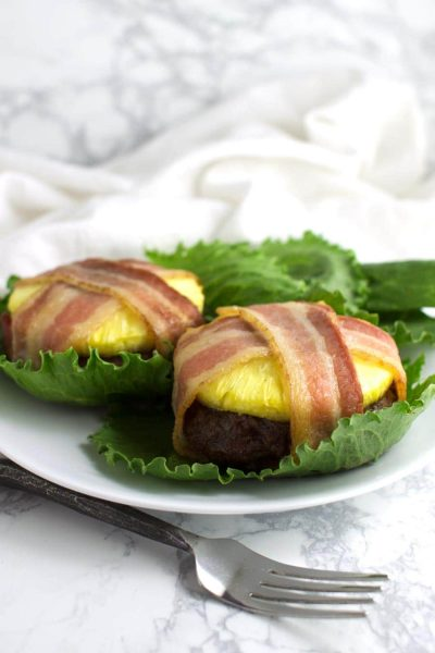 Pineapple Bacon Burgers recipe from acleanplate.com #aip #paleo #autoimmuneprotocol