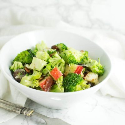 Broccoli Salad with Honey-Mustard Vinaigrette