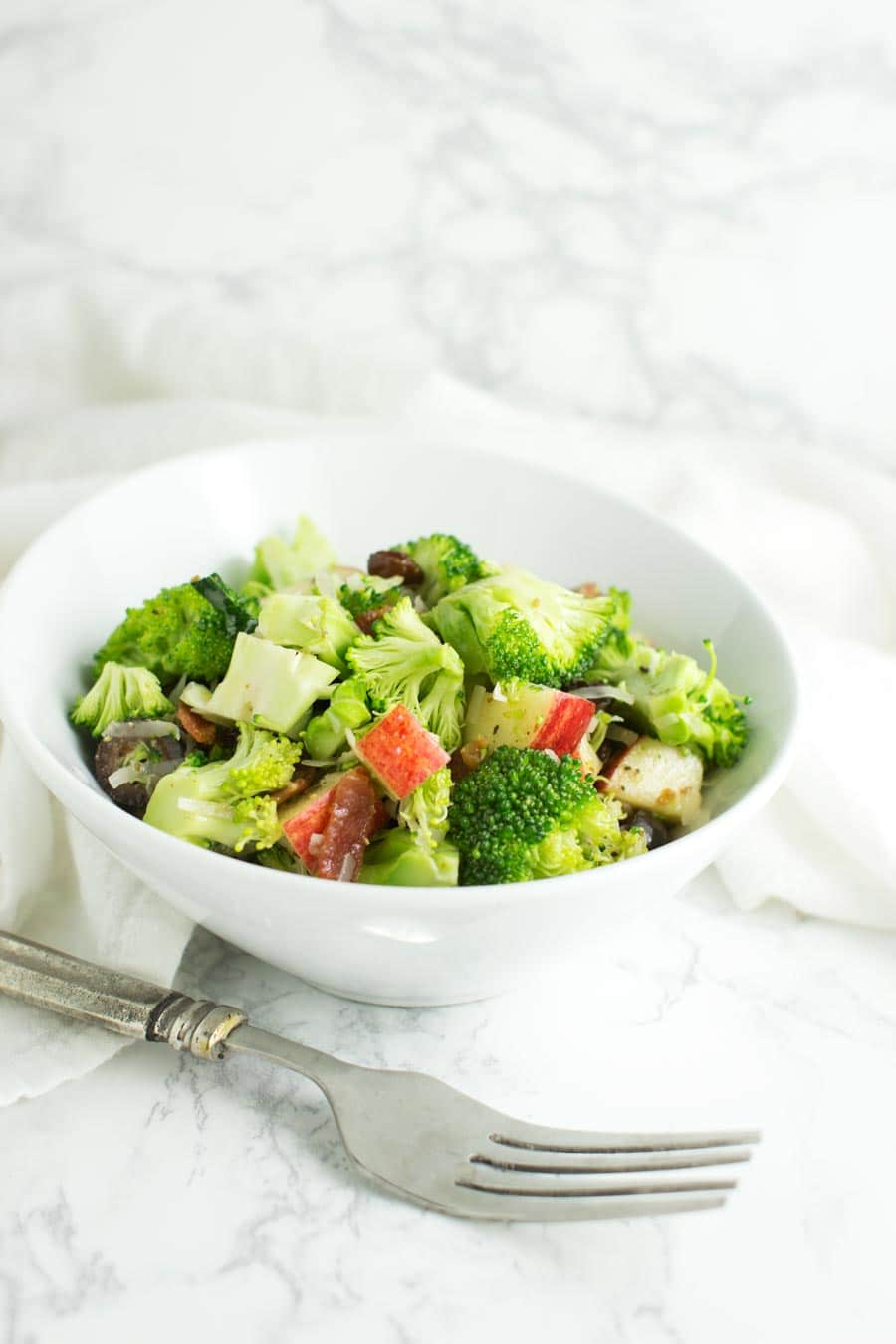 Broccoli Salad with Honey-Mustard Dressing recipe at acleanplate.com #paleo #primal #glutenfree