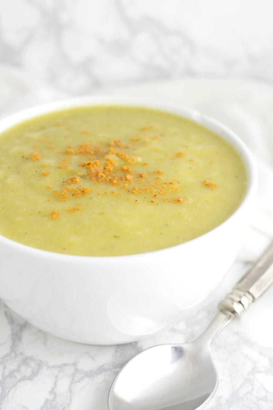Celeriac Leek Soup recipe from acleanplate.com #paleo #aip #autoimmuneprotocol