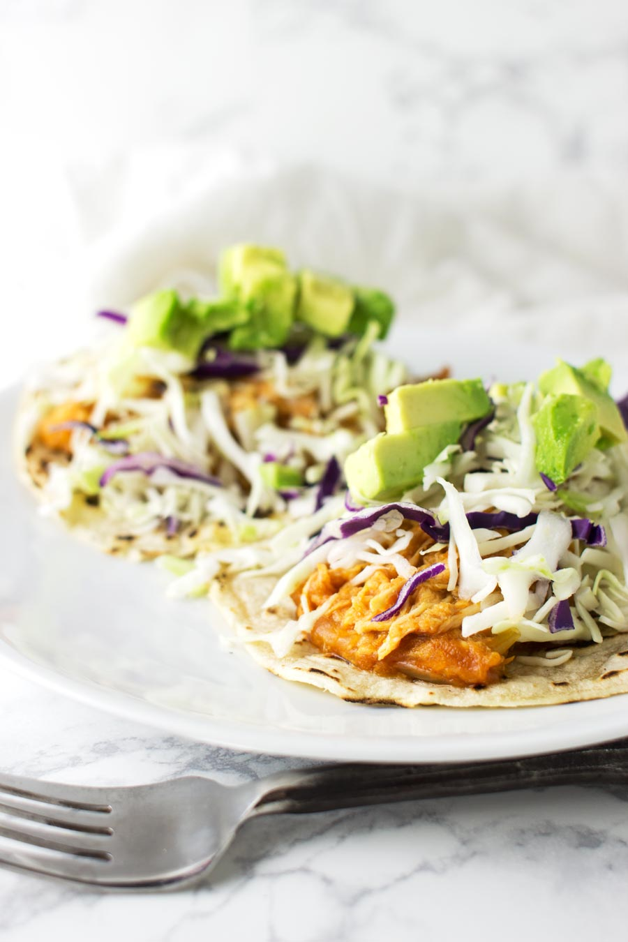 Slow-Cooked Chicken Tacos recipe from acleanplate.com #aip #paleo #autoimmuneprotocol