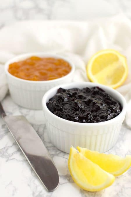 Blueberry Lemon Jam recipe from acleanplate.com #aip #paleo #autoimmuneprotocol