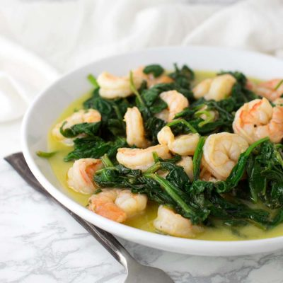 Shrimp and Spinach Stir-Fry