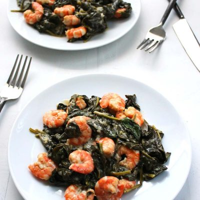 Shrimp and Spinach Stir-Fry
