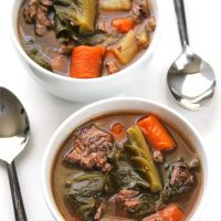 Beef and Vegetable Stew with Bacon