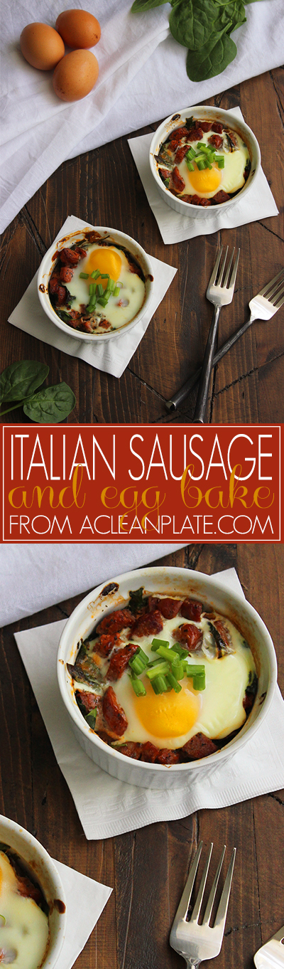 Italian Sausage and Egg Bake recipe from acleanplate.com