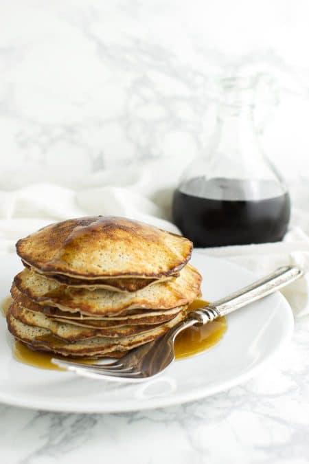 Simple Banana Pancakes from acleanplate.com #paleo #glutenfree #grainfree