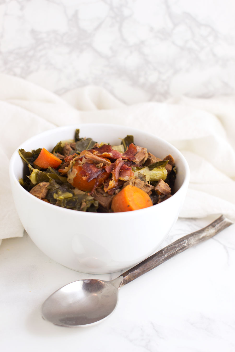 Beef and Vegetable Stew with Bacon recipe from acleanplate.com #paleo #aip #glutenfree