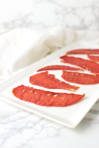 Candied Watermelon recipe from acleanplate.com #paleo #aip #glutenfree