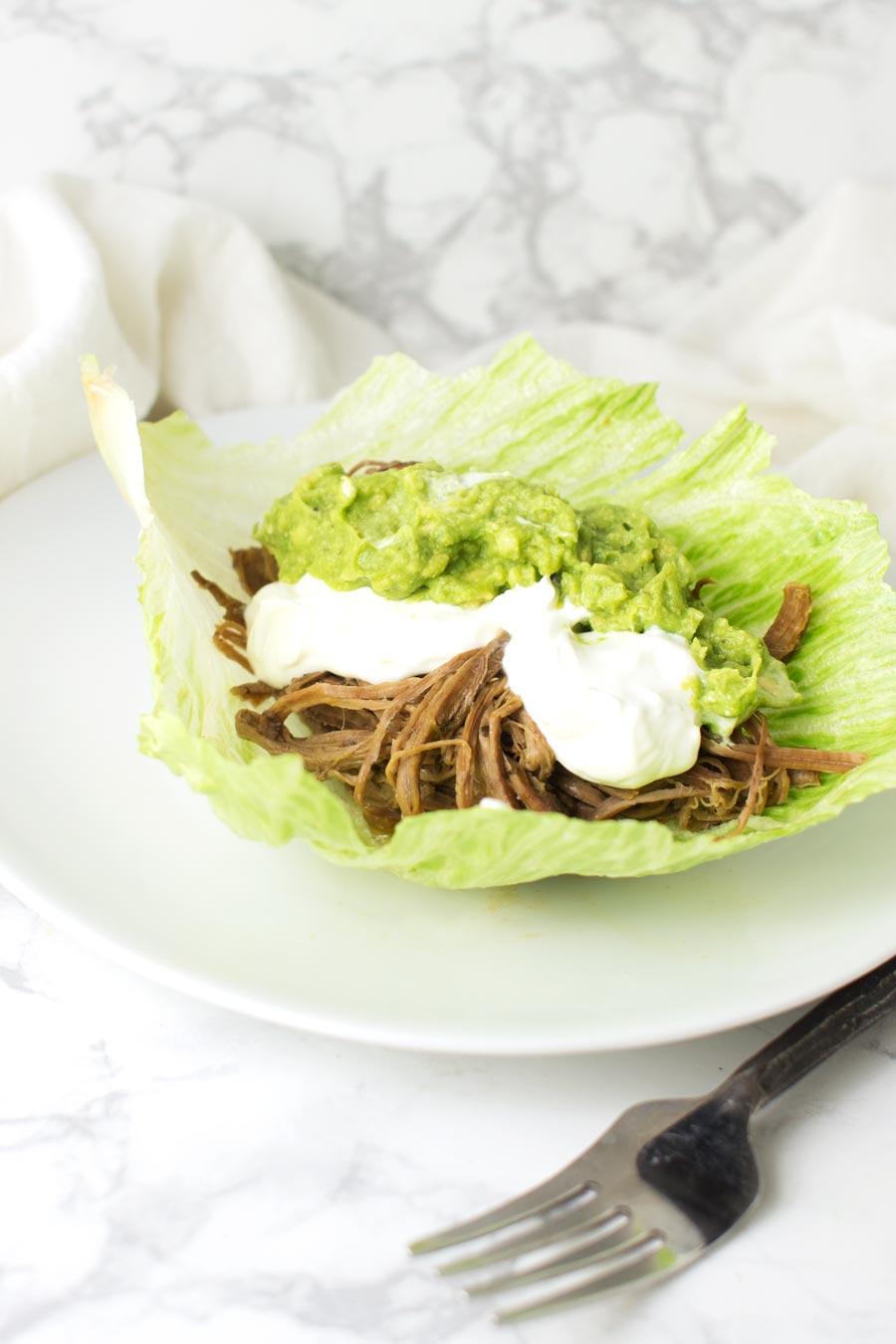 Beef Tongue Barbacoa recipe from acleanplate.com #paleo #aip #glutenfree