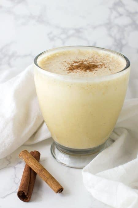 Carrot Cake Smoothie recipe from acleanplate.com #aip #paleo #autoimmuneprotocol
