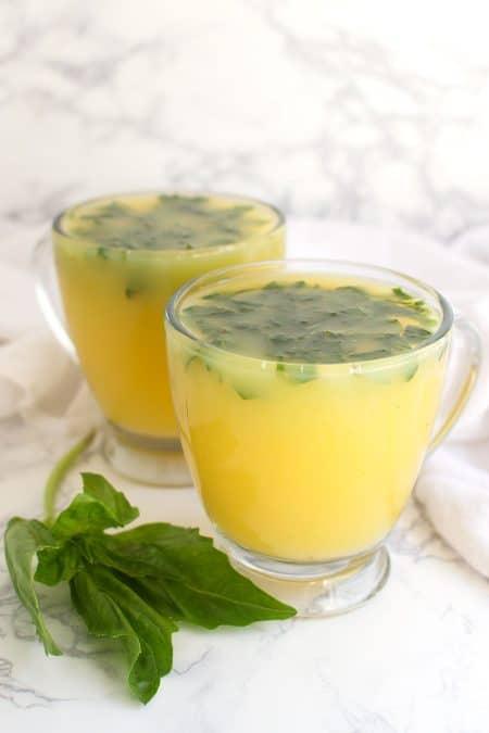 Basil Orange Juice recipe from acleanplate.com #aip #paleo #autoimmuneprotocol