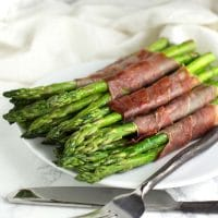 Prosciutto-Wrapped Asparagus recipe from acleanplate.com #paleo #aip #autoimmuneprotocol