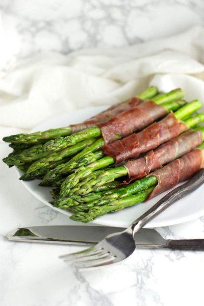 Prosciutto-Wrapped Asparagus recipe from acleanplate.com #paleo #aip #autoimmuneprotocol